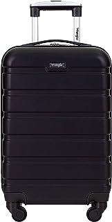 Wrangler Hardside Carry-On Spinner Luggage, Black, 20-Inch