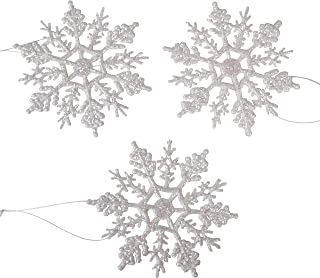 Darice 1619-60 10-Piece Pearlized Snowflake, 4-Inch
