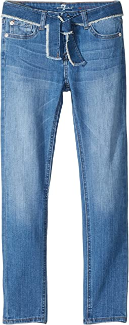 Skinny Stretch Denim Jeans in Adelaide Bright Blue (Big Kids)