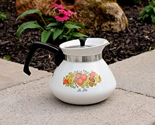 Corning Ware Rare 6 Cup Teapot Kettle Spice Of Life Le The P-104
