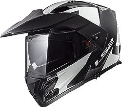 LS2 Helmets Unisex-Adult flip Style 324-2251 Metro V3 Helmet (Sub Glossy White/Black, X-Small)