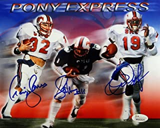 Dickerson McIlhenny James Autographed 8x10 SMU Pony Express Photo- W Auth - JSA Certified - Autographed College Photos