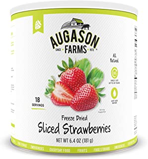 Augason Farms Freeze Dried Sliced Strawberries 6.4 oz