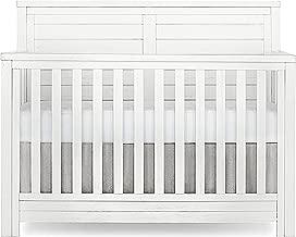 Evolur Belmar Flat 5 in 1 Convertible Crib, Weathered White