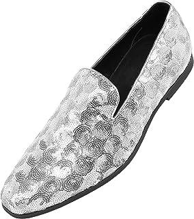 b602f02de2f48 Amazon.com: Silver Men's Loafers & Slip-Ons