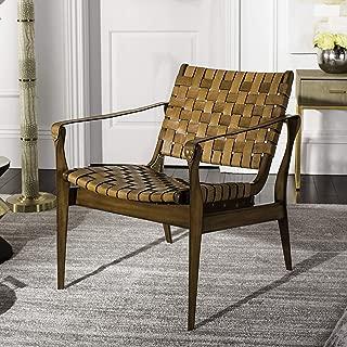 brown leather safari chair