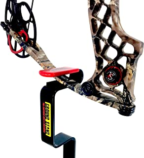 Ground Blind Bow Holder | Hunting Blind Bow Holder | Solid Steel Compound Bow Stand | Target Shooting | Lifetime Guarentee