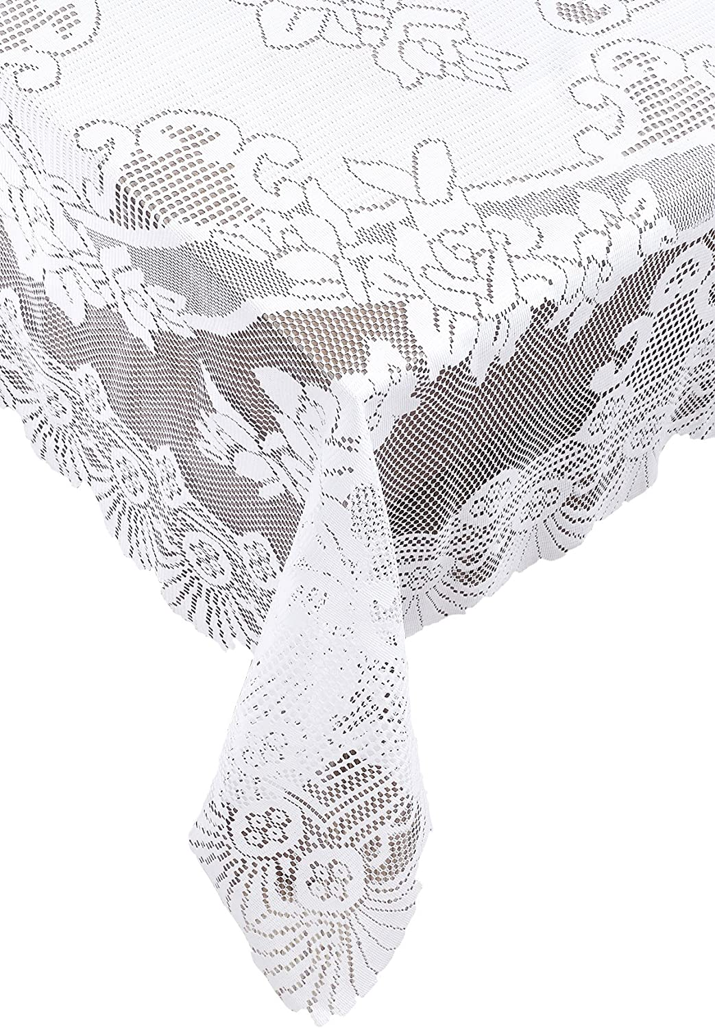 Ritz 100% Polyester Easy Care Lace Tablecloth San Francisco Mall Linen Popular shop is the lowest price challenge Squ 53-inch