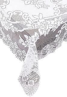 Ritz Linen Lace Tablecloth, 63 x 90, White