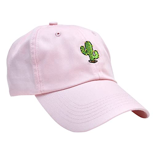 Skyed Apparel Cactus Cotton Embroidery Adjustable Baseball Cap Baseball Hat  Dad Hat from (Multiple Colors 64ed3e43652