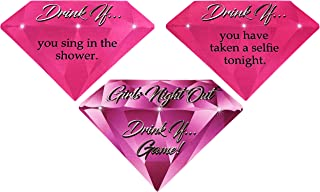 Girls Night Out Drink If Game! - 40 Game Cards for Bachelorette Parties, Girl's Night, Bridal Showers and More (Drink If! Game)
