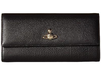 Vivienne Westwood Balmoral Long Wallet (Black) Wallet Handbags