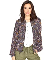Free People - Soft Printed Baloon Sleeve Jacket