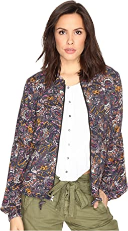 Soft Printed Baloon Sleeve Jacket