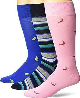 Chaps mens Novelty Crew Socks (3 Pack) Dress Sock