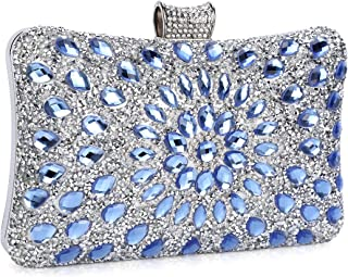 ead51067ef Clocolor Evening Bags and Clutches for Women Crystal Clutch Beaded  Rhinestone Purse Wedding Party Handbag