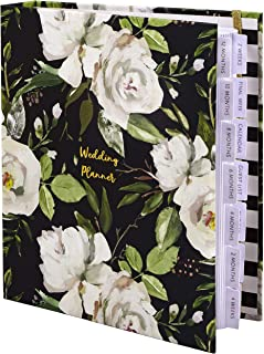 $32 » The Dream Wedding Planner | Luxury Wedding Organizer Book with Beautiful Souvenir Gift Box | Ideal Engagement Gift for Couples | Perfect for Planning Your Dream Wedding | Black & Flowers