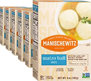 Manischewitz Matzo ball Mix Non GMO KFP 5 Oz. Pack of 6.
