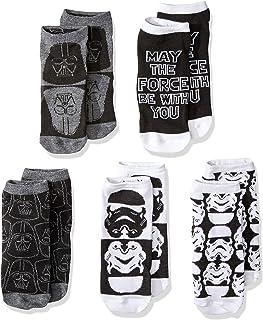 1 x White//Black Ankle Socks For Boys STAR WARS DISNEY