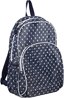 Eastsport Mesh Backpack With Padded Shoulder Straps, Deep Cobalt/Polka Dots