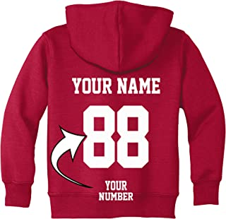 Custom Toddler Hoodies - Design Your OWN Jersey Sweatshirt for Kids - Hooded Team Sweaters