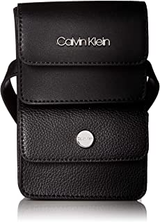 Calvin Klein womens Calvin Klein Tonya Calf Leather Belt Bag Black Size: One Size