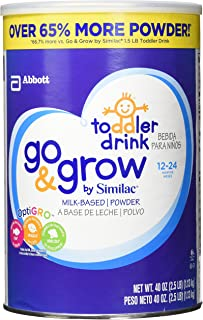 Similac Go And Grow Milk Based Powder, 40 Ounce