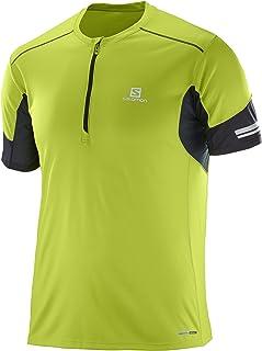 [サロモン] Tシャツ AGILE HALF ZIP SHORT SLEEVE TEE MEN (アジャイル ハーフジップ ショートスリーブ ティー) メンズ