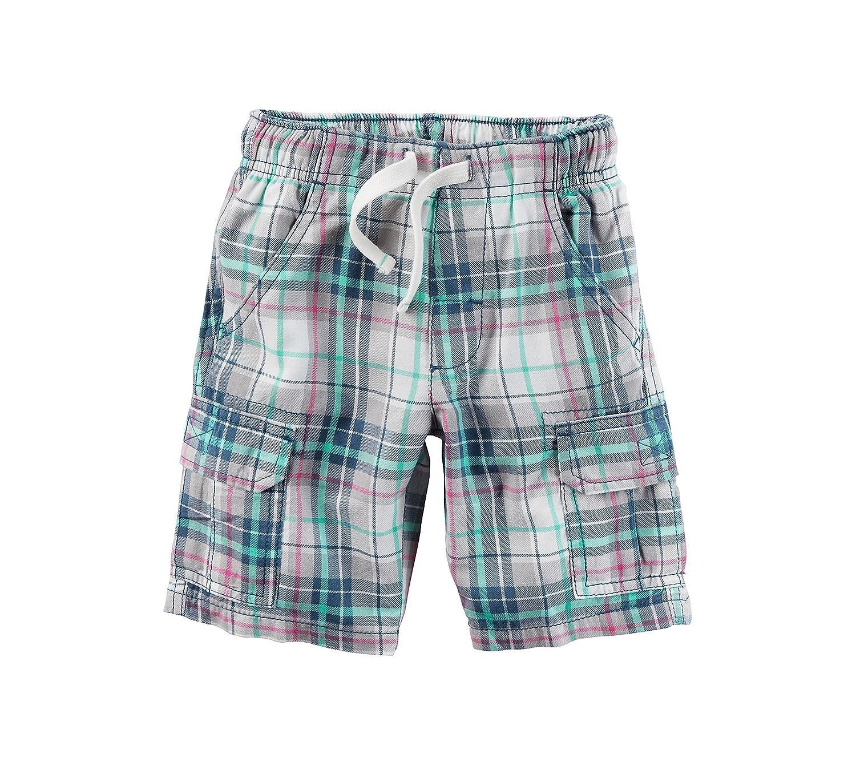 Carter 's Boys ' 2t-8?Plaid Cargo Shorts