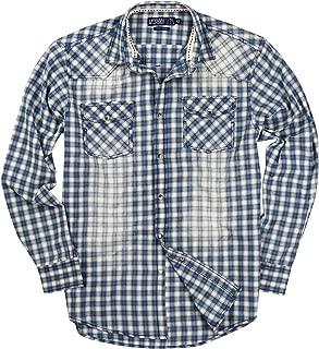 Mens Western Pearl Snap Long Sleeve Cowboy Shirts