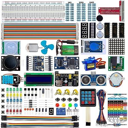 Smraza Raspberry pi 用 センサースターターキットキット 4 B 3 B+ 400 電子工作キット センサーモジュール ラズパイ拡張 Raspberry Pi学習キット ブレッドボード/抵抗器/LED制御/センサー C&Pythonコード付き 229点セット