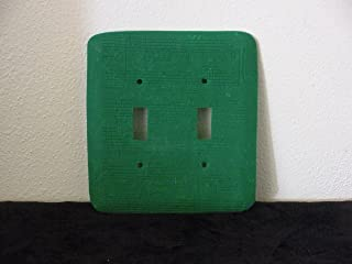 Decorative Two Switch, Polymer, Switch Plate Cover