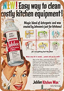 Wall-Color 7 x 10 Metal Sign - 1953 Johnson Jubilee Kitchen Wax - Vintage Look