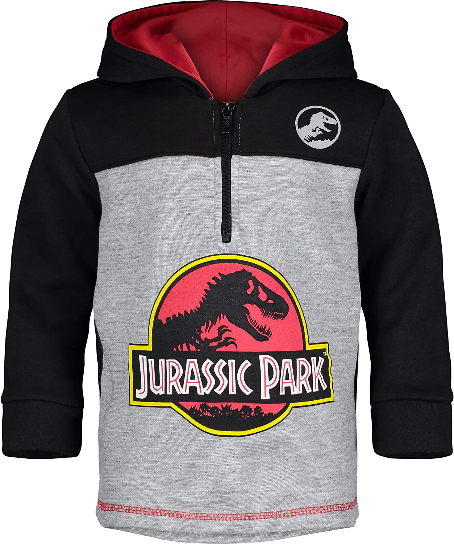 Jurassic Park 5 ☆ popular Dinosaur Movie Logo Boys' Fleece Super beauty product restock quality top Pullover Hoodie S