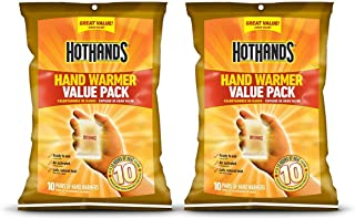HotHands Hand Warmers - Long Lasting Safe Natural Odorless Air Activated Warmers - Up to 10 Hours of Heat - 20 Pair Value Pack