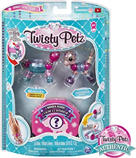 Twisty Petz, Series 3 3-Pack, Bling-Balm Turtle, Glitzerella Pony and Surprise Collectible Bracelet Set for Kids Aged 4 and Up