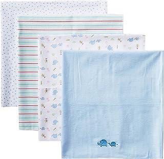 pasilk Newborn 4 Pack 100% Cotton Flannel Receiving Blanket