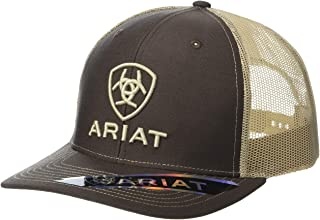 قبعة Ariat Shield Richardson 112 بمقدمة مسطحة باللون البني المصفر مقاس واحد