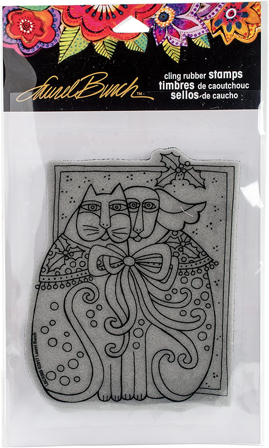STAMPENDOUS LBCR009 Cling Stamp Kindred Holiday