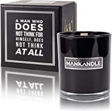 Majestic Zens- ManKandle- Awesomely Scented Premium Glass Jar Candle for Men | Great Gifts for Men | Gift for Boyfriend | ...