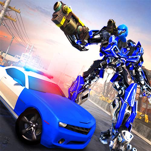 Real Police Power Robot Gangster Fight: Future Car Transform Rangers Legacy Missions