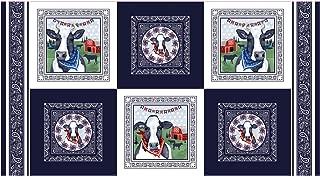 Studio E Fabrics Heritage Usa 12'' Blocks Navy, Fabric by the Yard