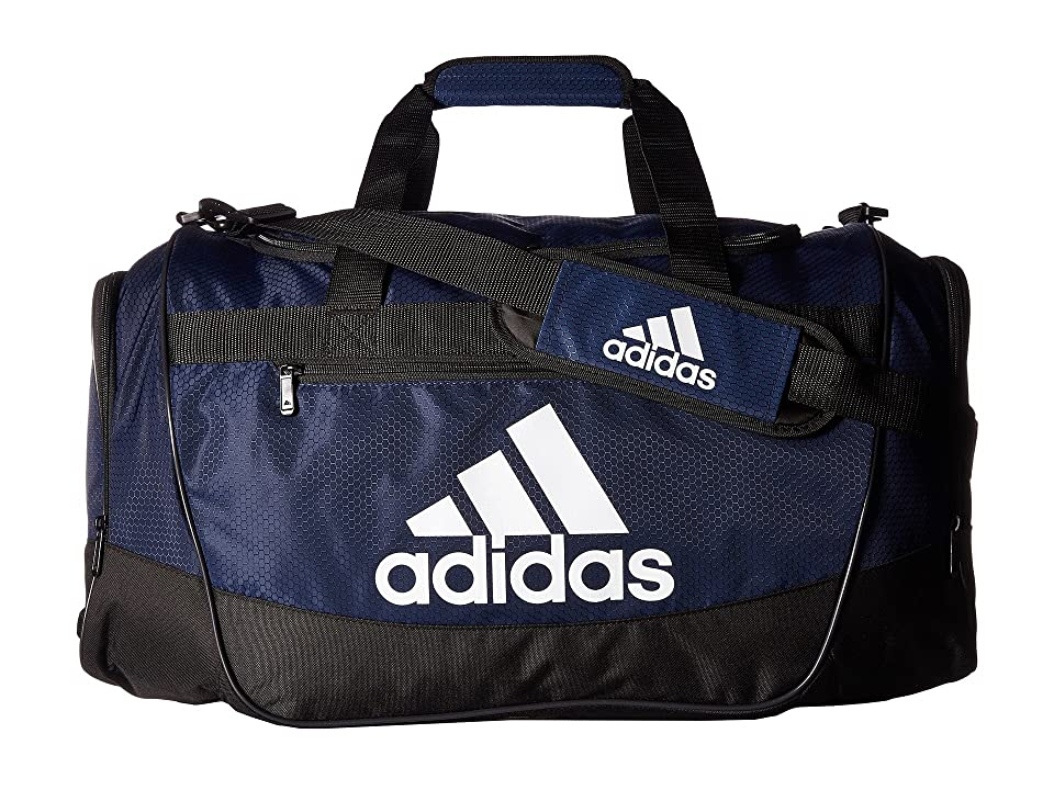 adidas Defender III Medium Duffel (Collegiate Navy/Black/White) Bags, Blue