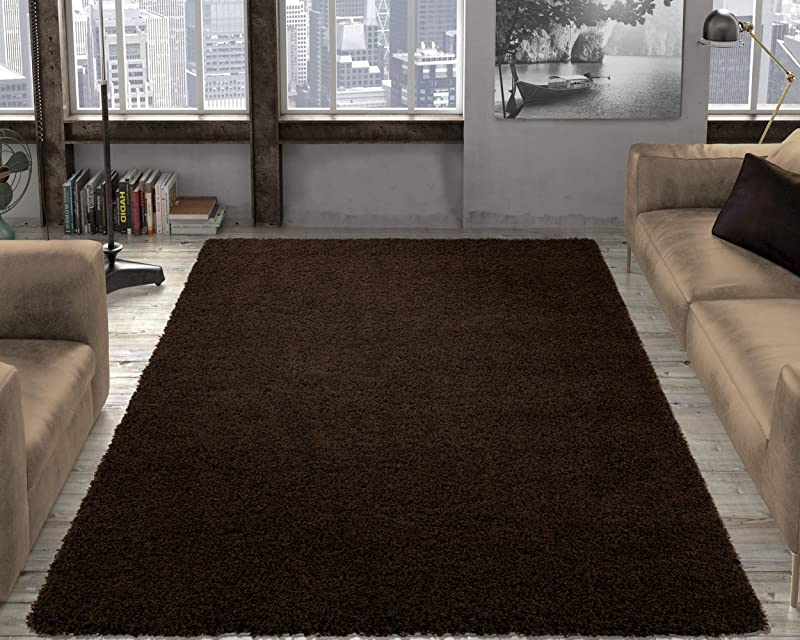 Ottomanson Shag Collection Area Rug 6 7 X 9 3 Brown