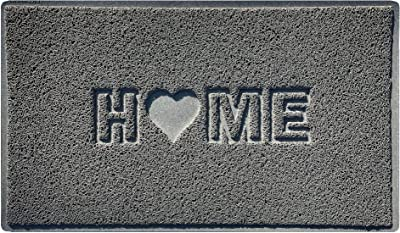 Nicoman Home + Heart MAT, Vinyl Loopers, Grey, Small (60x40cm)