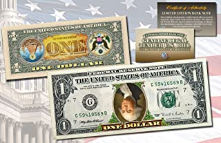 INVERTED ONE DOLLAR $1 US Bill Legal Tender COLORIZED 2-Sided UPSIDE DOWN ERROR