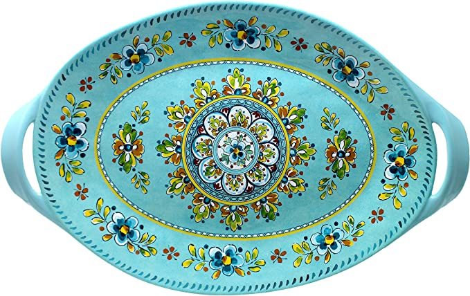 Le Cadeaux Melamine 11 inch Square Serving Platter Bianco
