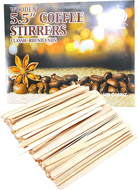 Pack Of 500 Wooden Round End Coffee Stirrers 5 5 Long 6mm Wide Wood Coffee Tea Stirrers