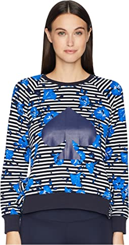 Hibiscus Stripe Pullover