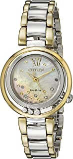 Women's EM0324-58D Citizen L Sunrise Diamond-Accented Two-Tone Stainless Steel Watch